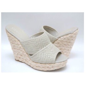 BCBGeneration gray and white Wedges