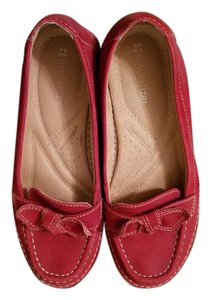 Naturalizer Suede Bows Loafer Red Flats