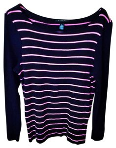 Ralph Lauren Stretchy Striped Longsleeve Two-tone Sweater
