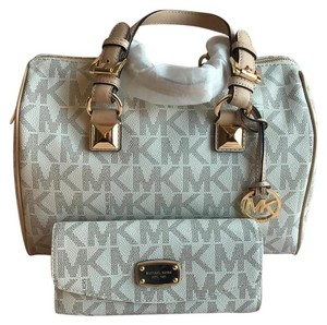Michael Kors Grayson Satchel in Vanilla White