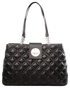 Kate Spade Quilted Leather Chain Satchel in Black