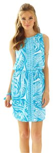 Lilly Pulitzer short dress White - Blue on Tradesy