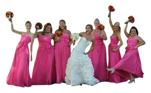 Alfred Angelo Pink Bridesmaid Dress
