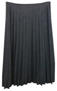 Kay Unger Gray Wool Skirt