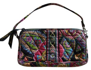 Vera Bradley Wristlet in Multi-colored; Red, Black, Yellow, Pink, Green, Purple and Blue