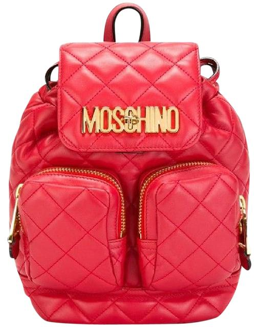 Item - New Quilted Red Leather Backpack