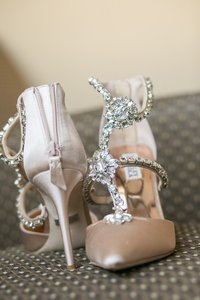 Badgley Mischka Decker T Strap Wedding Shoes