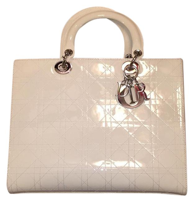 Item - Bag Lady White Patent Leather Tote