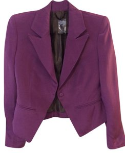 William Rast Silk Purple Blazer