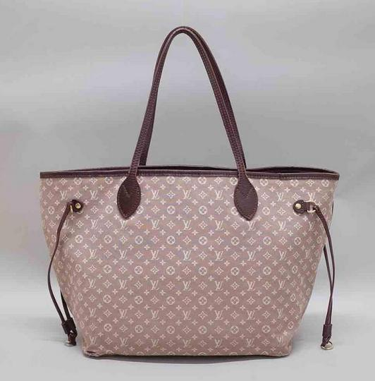 Louis Vuitton Neverfull Gm Idylle Mini Lin Tote in Burgundy Image 1