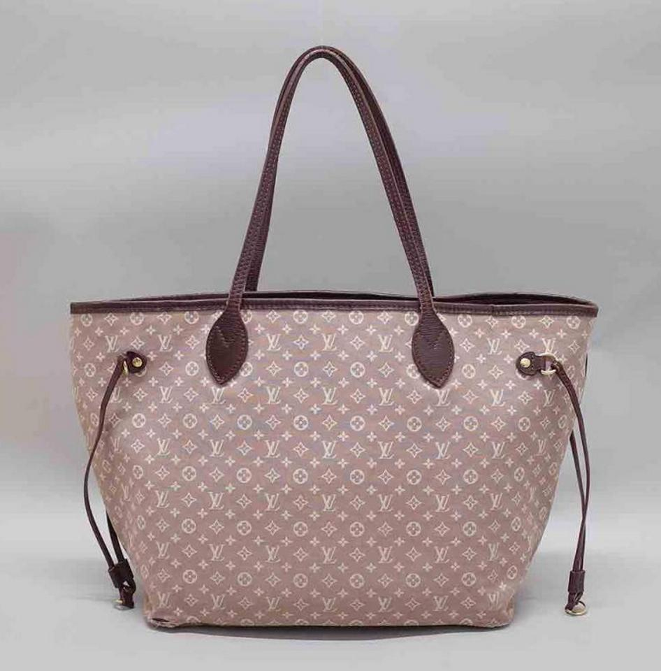 a45a7a1562b3 Louis Vuitton Neverfull Gm Idylle Mini Lin Tote in Burgundy Image 11.  123456789101112