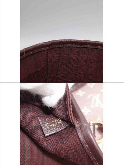 Louis Vuitton Neverfull Gm Idylle Mini Lin Tote in Burgundy Image 3