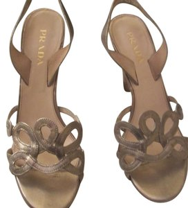 Prada Champagne Taupe Sandals