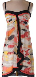BCBGMAXAZRIA short dress yellow black red gray on Tradesy