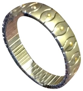 Qvc steel by design Steel By Design 14k And Stainless Bangle