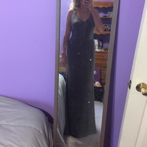 Simply Vera Vera Wang Charcoal Vera Wang Gown Dress