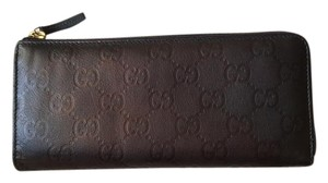 Gucci Gucci Monogram Metallic Long Zip Around Wallet