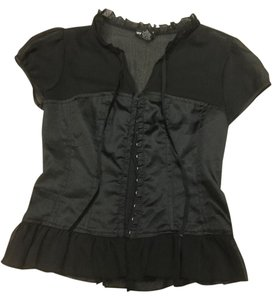 Wet Seal Vintage Corsets Top Black