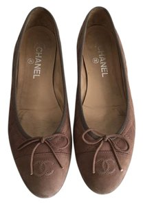 Chanel Taupe Flats