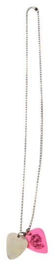 Preload https://item1.tradesy.com/images/pink-and-silver-vintage-guitar-necklace-2053355-0-0.jpg?width=440&height=440
