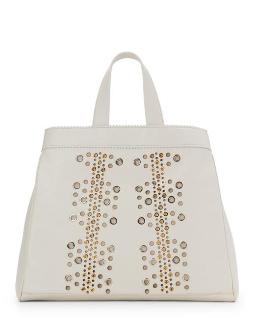 Item - New Sugar Daddy Grommeted Nappa Off White Leather Tote