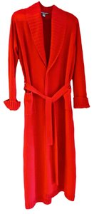 Saks Fifth Avenue Cashmere Robe- shawl collar-cuffed RED full length (52