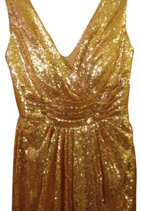 Gold Gold Sequin Bridesmaid Dress Dress
