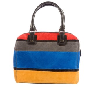 Alice + Olivia Satchel in Blue/Red/Black/Yellow