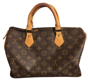 Louis Vuitton Speedy Lv Satchel in Brown