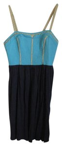 Anthropologie short dress Turquoise, Navy, Yellow, White on Tradesy