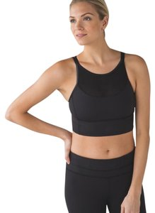 Lululemon black clip in long line bra