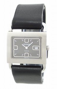 Herms Barenia Leather Stainless Steel Watch BA1.510