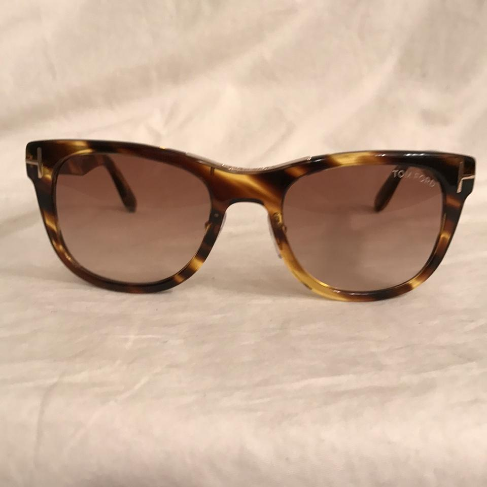 0a8b87a394 Tom Ford Brown Gold New  0537 Ft0045 Faux Tortoise Sunglasses - Tradesy