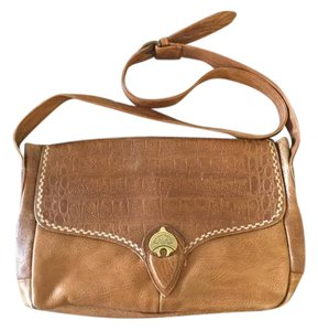 Susan Gail Embossed Leather Vintage Spanish European Cross Body Bag