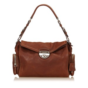 Prada Brown Leather Others Shoulder Bag
