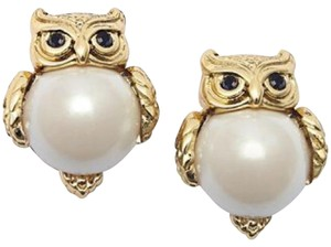 Kate Spade Kate Spade Into The Woods Owl Pearl Earrings