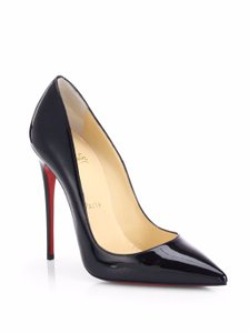 Christian Louboutin So Kate Pointed Toe Patent Leather 120 Mm Red Sole Black Pumps