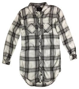 Rails short dress grey Tunic Plaid on Tradesy