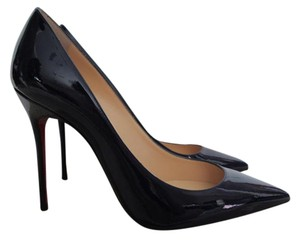 Christian Louboutin Patent Leather Pointed Toe Purple Pumps
