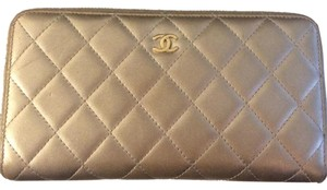 Chanel zipper accordion wallet Chanel lambskin quilted