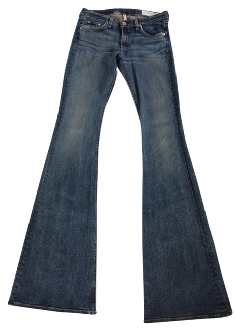 Item - Blue Distressed Elephant Bell For Intermix Flare Leg Jeans Size 28 (4, S)
