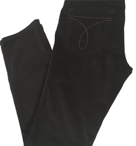 Calvin Klein Boot Cut Pants black velvet