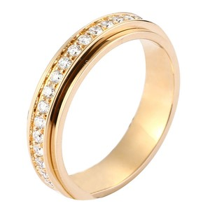 Piaget 18K Yellow Gold Diamonds Ring US 5.75
