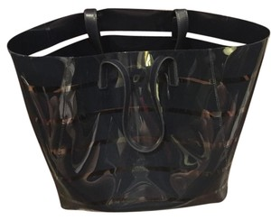 Tommy Bahama Tote in navy and clear