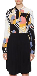 See by Chloé Crepe Flowy Necktie Top MULTI