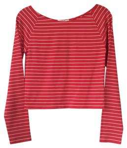 Forever 21 Red with white stripes Halter Top