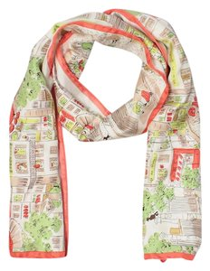 Other Silk Scarf w/Parisian Shop Scene