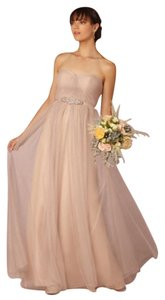 Jenny Yoo Beige Tulle Annabelle - Sandstone Formal Bridesmaid/Mob Dress Size 6 (S)