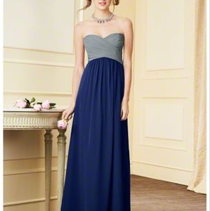 Alfred Angelo Top: Smoke Bottom: Navy 7289l Dress