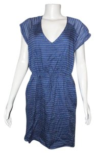 J.Crew short dress Blue with Brown Pebble Dot on Tradesy